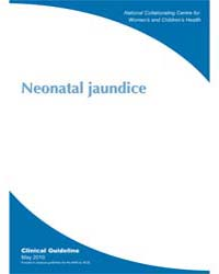 Neonatal Jaundice by National Collaborating Centre for Women's and Chil...