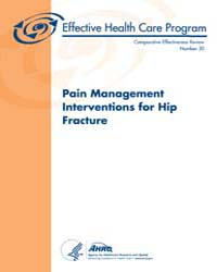 Pain Management Interventions for Hip Fr... by Agency for Healthcare Research and Quality