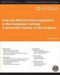 Safe and Effective Anticoagulation in th... by Department of Veterans Affairs US