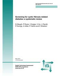 Screening for Cystic Fibrosis-related Di... by Agency for Healthcare Research and Quality