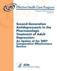 Second-generation Antidepressants in the... by Agency for Healthcare Research and Quality