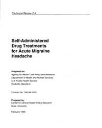 Self-administered Drug Treatments for Ac... by Agency for Healthcare Research and Quality