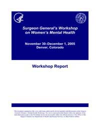 Surgeon General's Workshop on Women's Me... by Office of the Surgeon General US