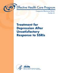 Treatment for Depression After Unsatisfa... by Agency for Healthcare Research and Quality
