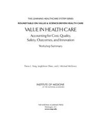 Value in Health Care : Accounting for Co... by Yong, Pierre, L