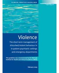 Violence : the Short-term Management of ... by Royal College of Physicians Uk