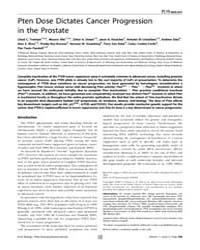 Plos Biology : Pten Dose Dictates Cancer... by Hastie,nicholas