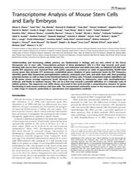 Plos Biology : Transcriptome Analysis of... by Tam, Patrick