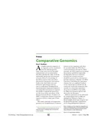 Plos Biology : Comparative Genomics, Vol... by Hardison, Ross C.