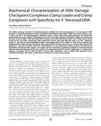Plos Biology : Biochemical Characterizat... by Haber, James E.