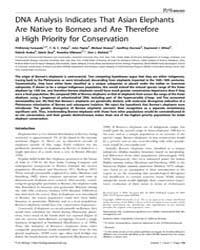 Plos Biology : Dna Analysis Indicates Th... by Moritz, Craig