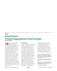 Plos Biology : Yeast Prions ; Protein Ag... by Sherman, Michael Y.