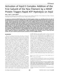 Plos Biology : Activation of Arp2, Volum... by Kirschner, Marc W.