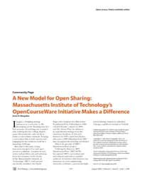Plos Biology : a New Model for Open Shar... by Margulies, Anne H.