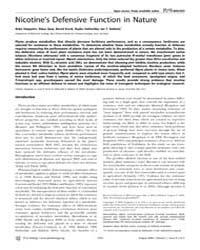 Plos Biology : Nicotine's Defensive Func... by Levine, Michael