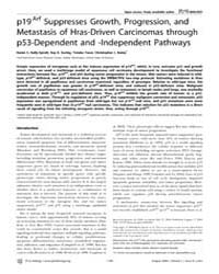 Plos Biology : P19Arf Suppresses Growth,... by Hastie, Nicholas