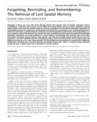 Plos Biology : Forgetting, Reminding, an... by Eichenbaum, Howard B.