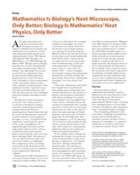 Plos Biology : Mathematics is Biology's ... by Cohen, Joel E.