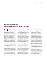 Plos Biology : Brain Versus MacHine Cont... by Carmena, Jose M.