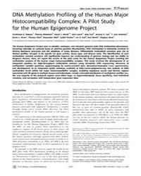 Plos Biology : Dna Methylation Profiling... by Becker, Peter B.