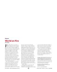 Plos Biology : World on Fire, Volume 2 by Bunk, Steve