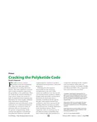 Plos Biology : Cracking the Polyketide C... by Hopwood, David A.