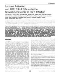 Plos Biology : Immune Activation and Cd8... by Marrack, Philippa