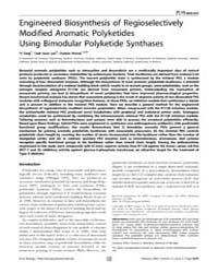 Plos Biology : Engineered Biosynthesis o... by Matthews, Rowena G.