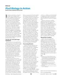 Plos Biology : Plos Biology in Action, V... by Cohen, Barbara