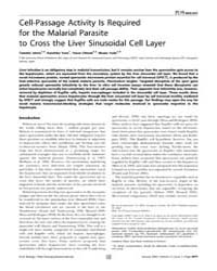 Plos Biology : Cell-passage Activity is ... by Ward, Gary