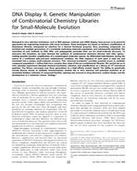 Plos Biology : Dna Display II. Genetic M... by Joyce, Gerald