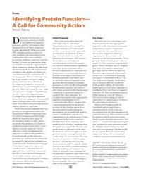 Plos Biology : Identifying Protein Funct... by Roberts, Richard J.