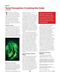 Plos Biology : Taste Perception ; Cracki... by Bradbury, Jane