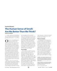 Plos Biology : the Human Sense of Smell ... by Shepherd, Gordon M.