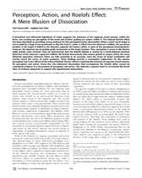 Plos Biology : Perception, Action, and R... by Banks, Martin S.