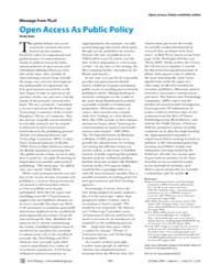 Plos Biology : Open Access as Public Pol... by Gass, Andy