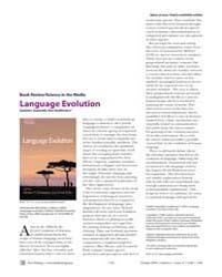 Plos Biology : Language Evolution, Volum... by Számadó, Szabolcs
