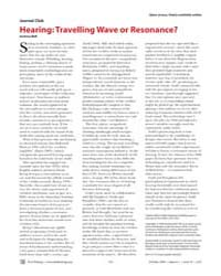 Plos Biology : Hearing ; Travelling Wave... by Bell, Andrew
