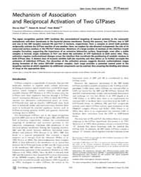Plos Biology : Mechanism of Association ... by Hughson, Fred