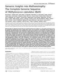 Plos Biology : Genomic Insights Into Met... by Moran, Nancy A.