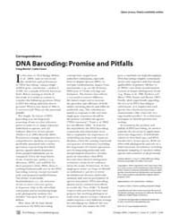 Plos Biology : Dna Barcoding ; Promise a... by Moritz, Craig
