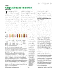 Plos Biology : Adaptation and Immunity, ... by Holmes, Eddie C.
