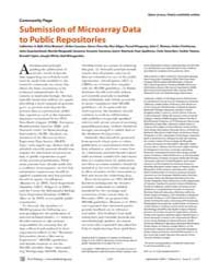 Plos Biology : Submission of Microarray ... by Ball, Catherine A.