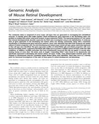Plos Biology : Genomic Analysis of Mouse... by Harris, William