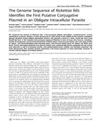 Plos Biology : the Genome Sequence of Ri... by Moran, Nancy