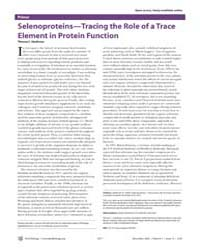 Plos Biology : Selenoproteins—tracing th... by Stadtman, Thressa C.
