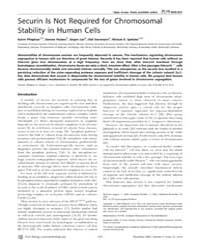 Plos Biology : Securin is Not Required f... by Hawley, R. Scott