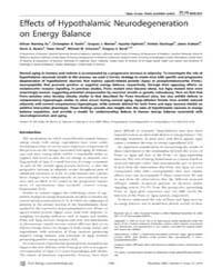 Plos Biology : Effects of Hypothalamic N... by Saper, Cliff