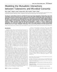 Plos Biology : Modeling the Mutualistic ... by Vrijenhoek, Robert C.
