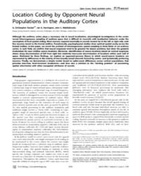 Plos Biology : Location Coding by Oppone... by Semple, Malcolm
